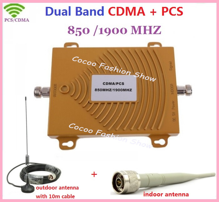 Full Set Mini GSM CDMA 850Mhz PCS 1900MHz Dual Band Signal Booster /Repeater, Cell all Phone Signal Booster /Repeater/ Amplifier(China (Mainland))