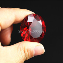 Buy Free shipping,50mm red High K9 Crystal Glass Diamond,2pcs/lot,For Wedding Table Decoration, Wedding gifts for $7.80 in AliExpress store