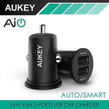 Buy AUKEY Mini 4.8A Dual Port USB Car Charger Universal Fast Smart Car-Charger Apple iPhone 7 LG Samsung Xiaomi &More Phone PC for $9.06 in AliExpress store
