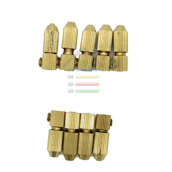 9pc Set 2.3mm and 3.17mm Brass Electric Motor Shaft Clamp Fixture Chuck Collet Mini Small For 0.7mm-3.2mm mini Drill multi tool