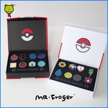 Mr.Froger Pokemon Go Road Museum Emblem II Medal brooch badge game props matel souvenir Reward clearance Proof  collect Classic