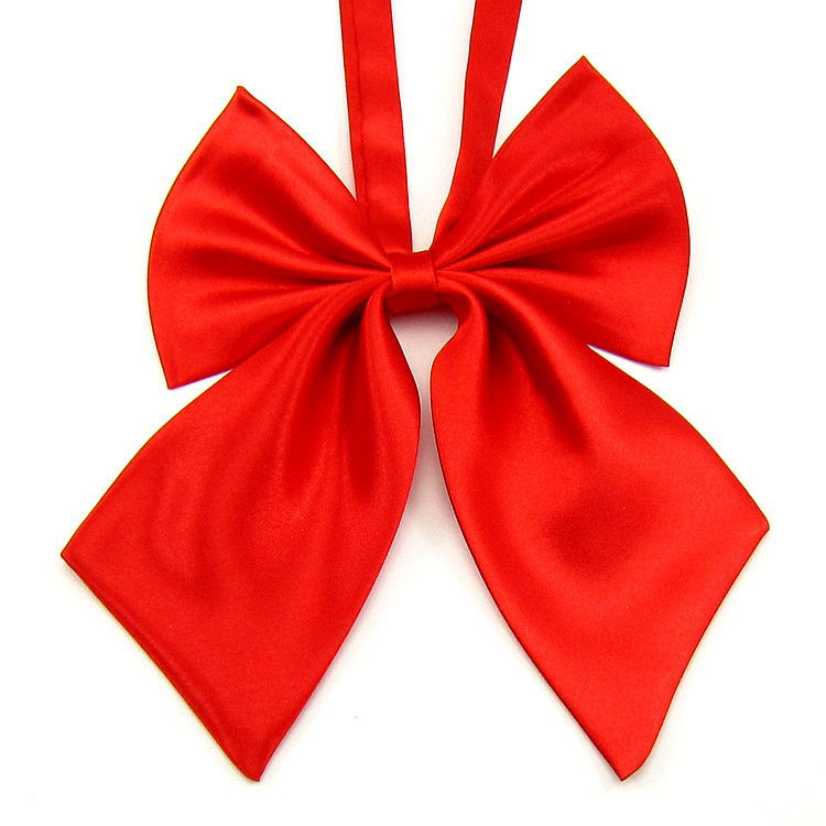New Korean style Bowtie Women Ribbon Party Butterfly Tie Solid color Women Students bow Smooth Neckwear