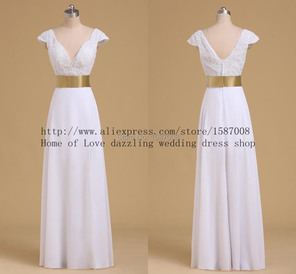 Full length beaded bridal dress beach 2014 real wedding for Beaded short wedding dress
