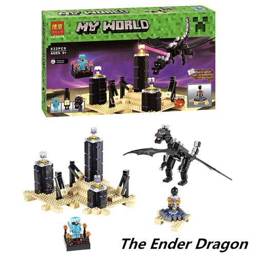 2015 MC 632PCS The Ender Dragon Steve & Endermen Figures Bricks Toys Set Minifigures Building Blocks Compatible With LEGO 21117(China (Mainland))