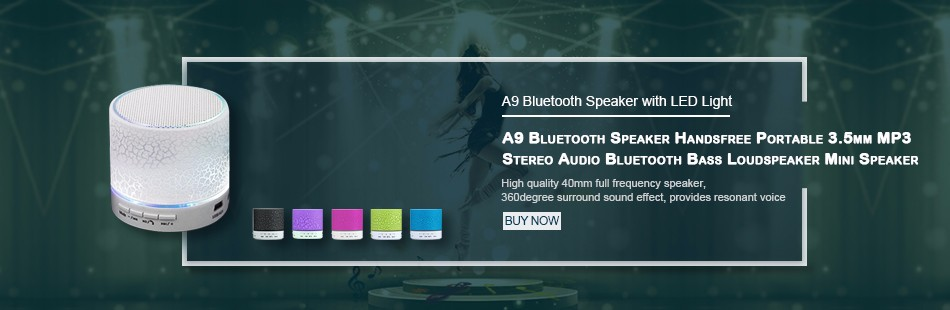 A9 Bluetooth Speaker with LED Light1
