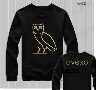 Free shipping 2015 Casual hoodies OVO Drake gold owl ovoxo Octobers very own weeknd tee sweatshirt crewneck Rap hip hop hoodie 1(China (Mainland))