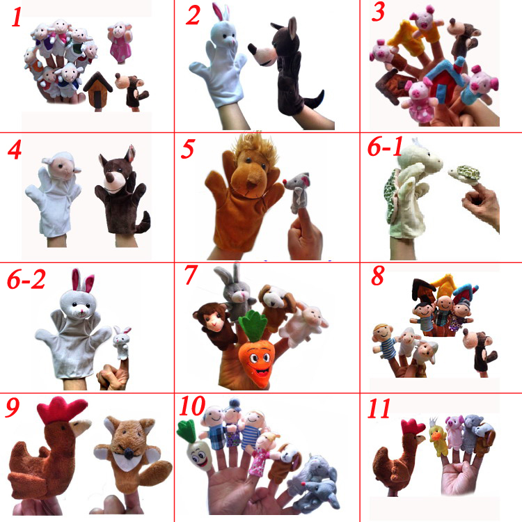 World Fairy Tale Collection Hand Puppet,Finger Puppets 11Set,Stuffed Toys,Plush Puppet,Kids Talking Props<br><br>Aliexpress