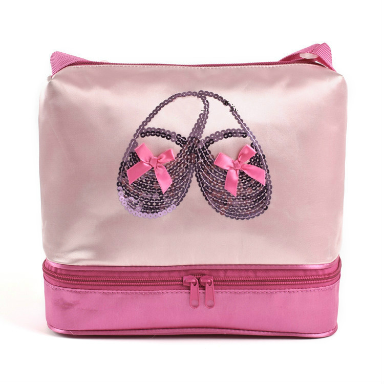 2015 Hot Kids Girls Ballet Bags Children Girl Dancer Bag Ballerina Bags Bowknot Bow Fashion Cute School Pink Messenger Bag(China (Mainland))