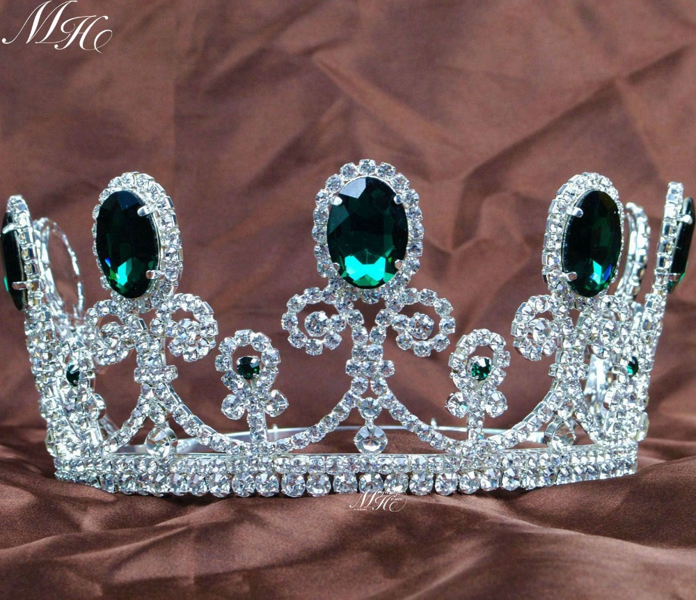 Emerald Tiaras Invisible Green Crystal Clear Rhinestones Crowns Wedding Bridal Pageant Prom Party Accessories Hair Jewelry<br><br>Aliexpress