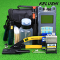 KELUSHI 20 in 1 Fiber Optic FTTH Tool Kit with FC 6S Fiber Cleaver Optical Power