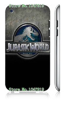 Mobile Phone Case Retail 1pc Jurassic world Movie Design Protective White Hard Case For Ipod Touch4 4th Free Shipping