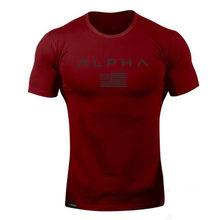 2018 Мужская футболка в стиле милитари, 2017 Мужская свободная хлопковая Футболка с круглым вырезом, Альфа Америка, размер, короткий рукав, футб...(China)