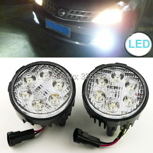 Excellent Ultra bright LED Fog Light OEM Assembly For Nissan Tiida X-Trail Versa Cube Juke Quest led light car light source<br><br>Aliexpress
