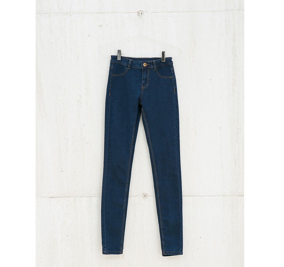 8907 Women Brief  Casual Slim Dark Blue Mid Waist Zipper Elastic Strech Classical Skinny Brand Jeans Mujer Plus Size Pants LAYS