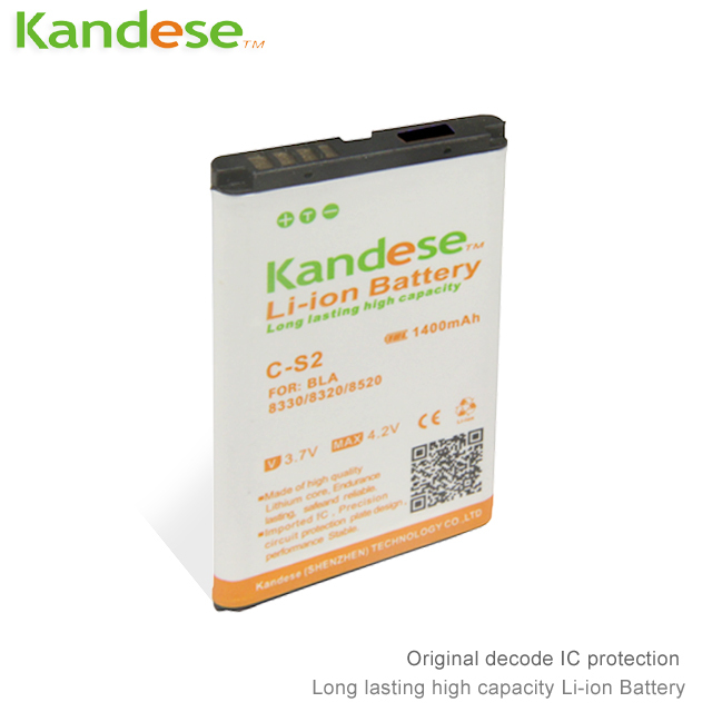 2pcs/lots Kandese High Quaity 1400mAh Lithium-ion Battery Replacement for phone BLACKBERRY 8330/8320/8520/8530/8310/8300/7105T(China (Mainland))