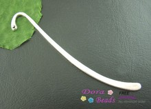 15PCs Silver Plated Bookmark With Loop 86mm Findings (B01615)(China (Mainland))