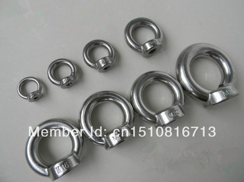 10pcs Eyes Nuts M6 Metric Threaded Stainless Steel Lifting(China (Mainland))
