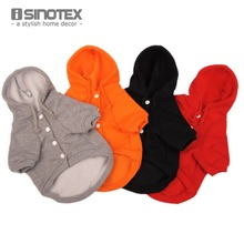 Casual Fleece Pet Clothes Sweatshirt Hoodie Small Dog Clothing Solid Cat Products Apparel Button Puppy 1 Piece Lot