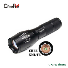 High Power CREE XML-T6 5 Modes 3800 Lumens LED Flashlight Waterproof Zoomable Torch lights(China (Mainland))
