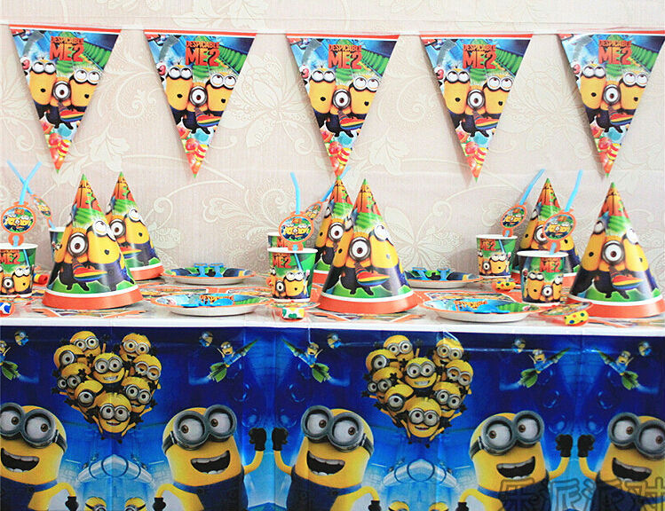 me minion themed party bits birthday party decorations kids set baby