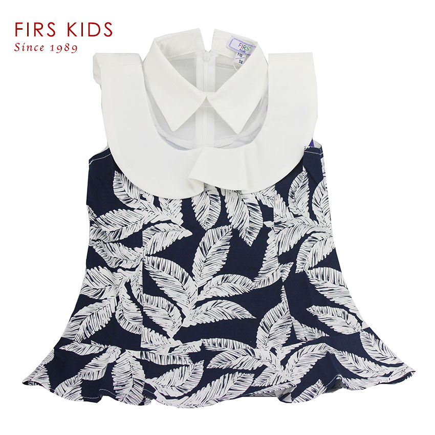 2016 Fashion Summer Kids t shirt 100% Cotton Sleeveless Baby Kids Pretty Clothing children shirt All printed chiffon splicing(China (Mainland))