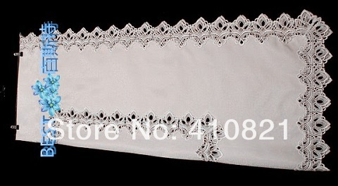 110x160cm white embroidery lace table cloth table overlay hot sale in 2014(China (Mainland))