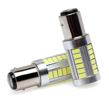 Buy S25 BAY15D 1157 2057 2357 33-SMD 5730 LED 10W Car Brake Tail Turn Signal Light Lamp Bulbs Red White (Pack 2) for $16.00 in AliExpress store