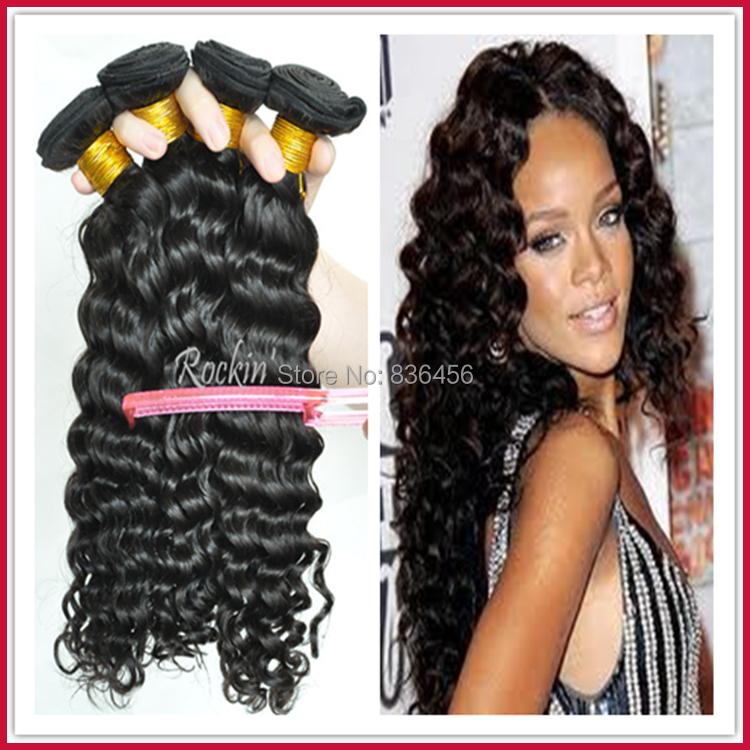 KBL brazilian hair,Natural black hair weave,Deep wave hair 3pcs/lot,6A grade,Bobbi Boss Supplier,DHL Free Shipping(China (Mainland))