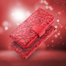 FLOVEME Luxury 3D Flower Pattern Leather Case For iPhone 7 6 6s Plus 5 5s SE Stand Holder Flip Wallet Cover For iPhone 7 6 Case(China (Mainland))