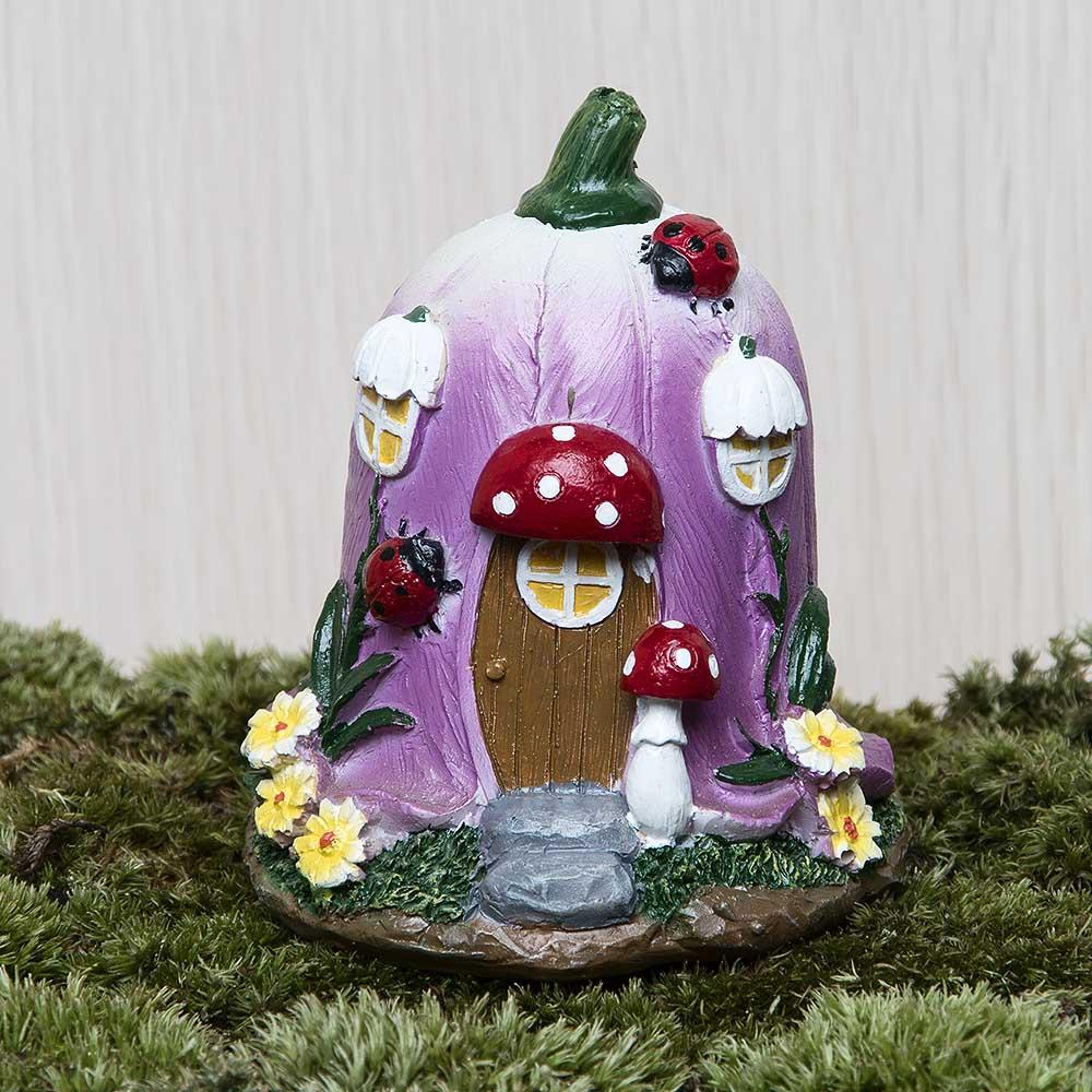Buy Big Mushroom House Fairy Garden Gnome Moss Terrarium Decor For Resin Crafts