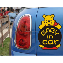 Baby in Car decal Funny Car Sticker Winnie the pool for Tesla Ford focus Chevrolet cruze Volkswagen Honda Hyundai Kia Lada