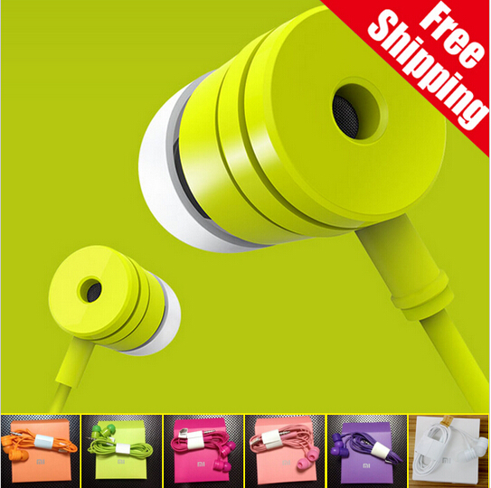 XIAOMI Earphone Headphone Headset 3.5mm In-ear Stereo Earbuds Headphone Earphone for iPhone HTC Samsung With MIC Remote(China (Mainland))