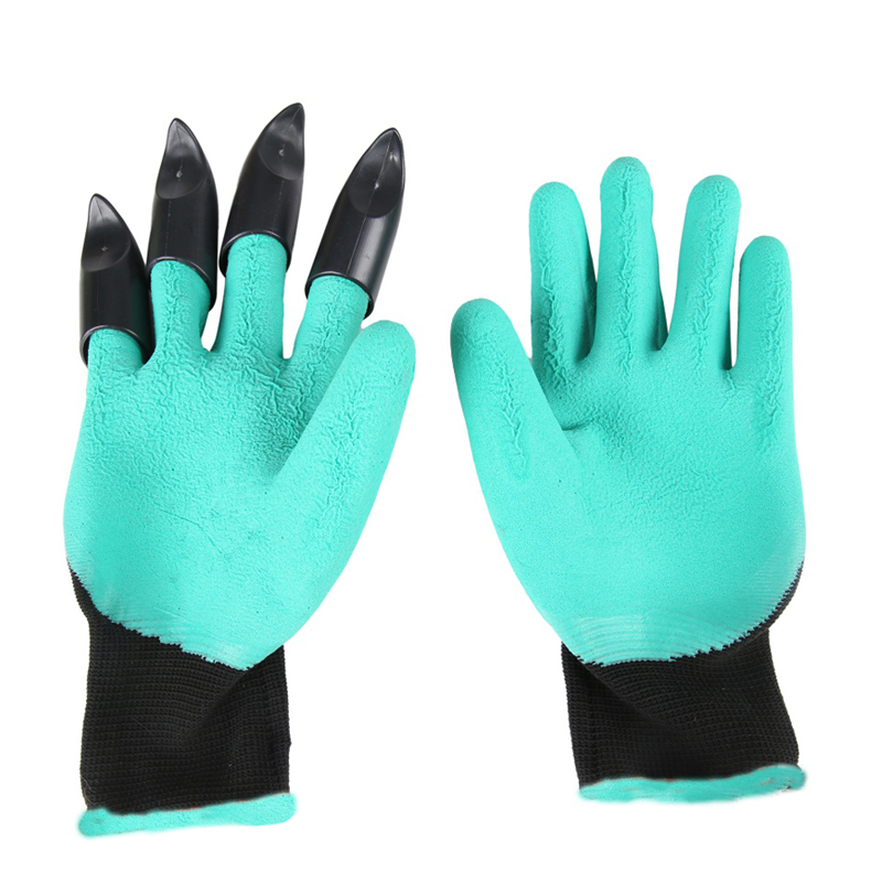New Hunting Garden Gloves for Digging & Planting with 4 ABS Plastic Claws Gardening Hunting Gloves