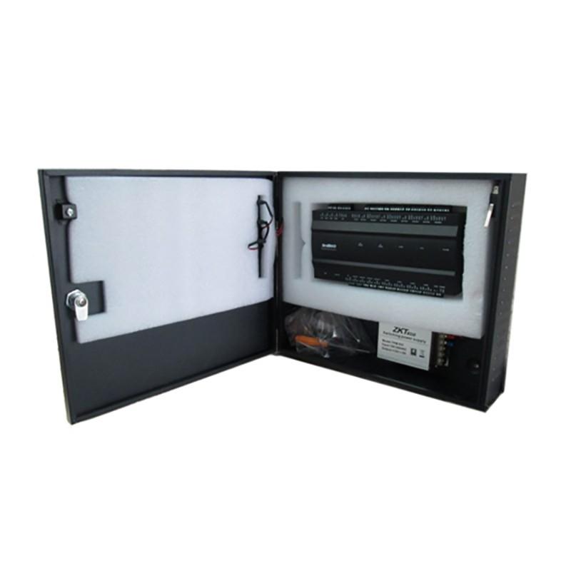 4 doors access control panel access control board, TCP/IP fingerprint access control with 4pcs MF card reader  and power box