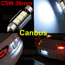 Cold White CANBUS Error Free C5W 36mm Festoon 3 SMD DE3423 6418 3LED 12v Car Interior Bulb License Plate Light For BMW Audi Benz