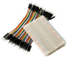 Buy Hot 400 Points Solderless Bread Board PCB Test Board Male Male Color Breadboard Cable Jump Wire Jumper Arduino Shield for $3.99 in AliExpress store