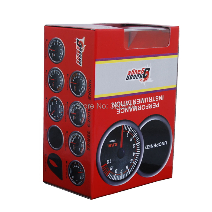Car Motor New Universal Smoke Len 2 inch Inch 52mm Indicator Air/Fuel Ratio Gauge Meter - Excellent Etop Shopping store