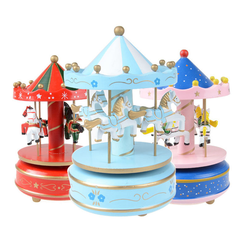 Christmas Musical Merry go Round Merry-go-round Music Box