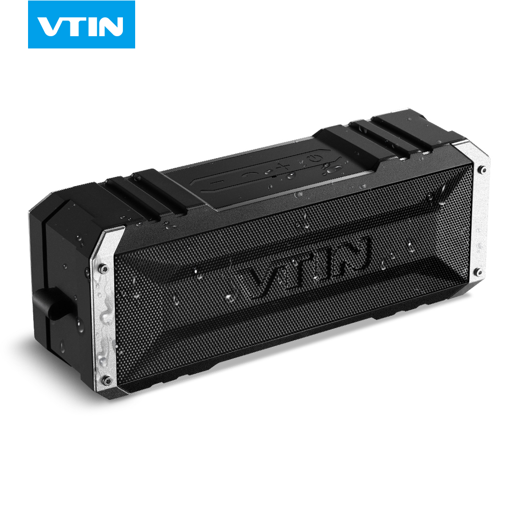 VTIN Portable Wireless Bluetooth Speaker 20W by dual ten drivers Water-resistant speaker Bass with Mic & 4400mAh for Ipad &phone(China (Mainland))