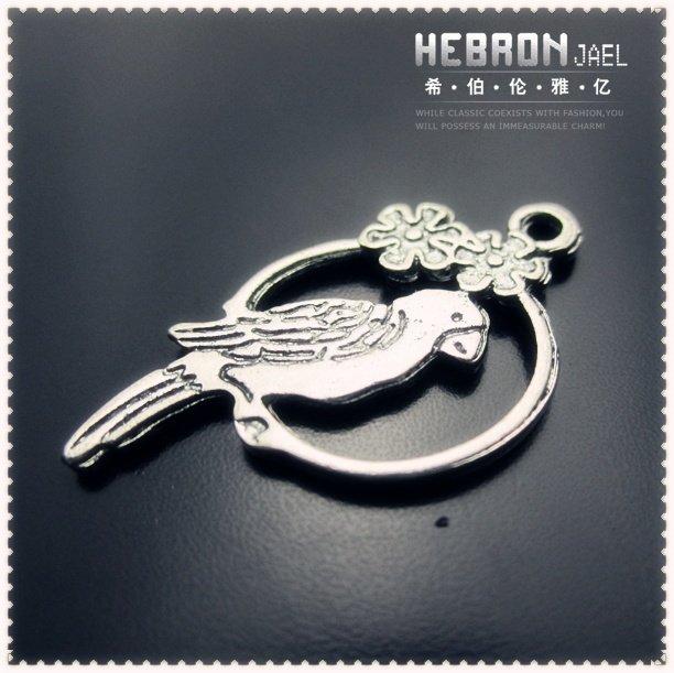 9*19 mm Free ship Tibetan Silver (200pcs) Zinc Alloy Jewelry Accessories Classic Parrot Pendant(3798#)(China (Mainland))