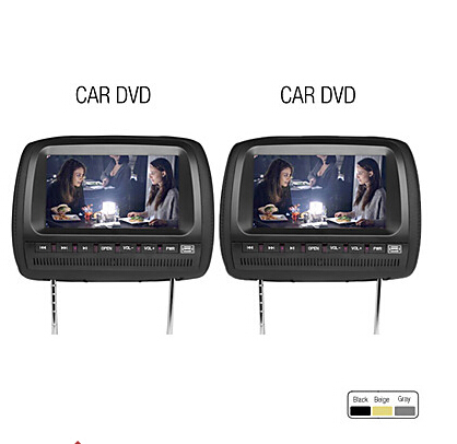 9 car headrest dvd player support fm transmitter wireless. Black Bedroom Furniture Sets. Home Design Ideas