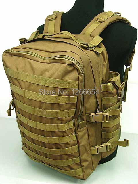 Free shippingTactical Molle Large Assault Gear Medical Backpack Coyote Brown(China (Mainland))