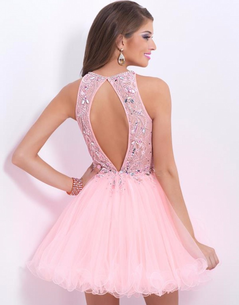 Aure-Mario-Pink-Elegant-Rhinestone-Cocktail-Dress-2016-Tulle-Evening-Party-Gowns-Short-About-Knee-Prom (1)