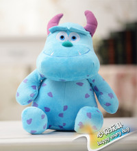 2pcs/Set 22CM Monsters University Figure Doll Plush Sulley & Mike Monster Toys Lovely Soft Baby Kids Stuffed Plush Toy