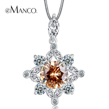 Charming rhinestone necklaces flower fashion jewelry for women 2016 eManco new style cubic zirconia snake chain necklace TX00021(China (Mainland))