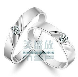 MSF lovers`wedding ring couple rings 925 sterling silver & cz zircon female jewelry JZ006 - Life in Color Co.,Ltd store