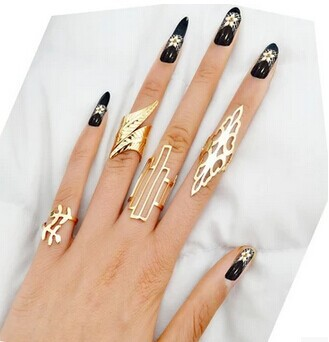 Гаджет  New Fashion jewelry Wholesale hollow tree leaf Geometric finger ring set 1set=4pieces gift for Valentine