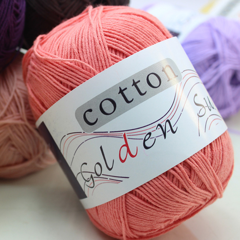 250g/Lot 5 Ball Lotus Yarns Pure Baby 100% Cotton Yarn Worsted Eco-Friendly Dyed Crochet Yarn For Knitting Garn laine a tricoter(China (Mainland))