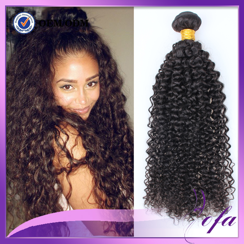 Crochet Human Hair Weave : human hair weave brazilian curly crochet hair extension-in Human Hair ...