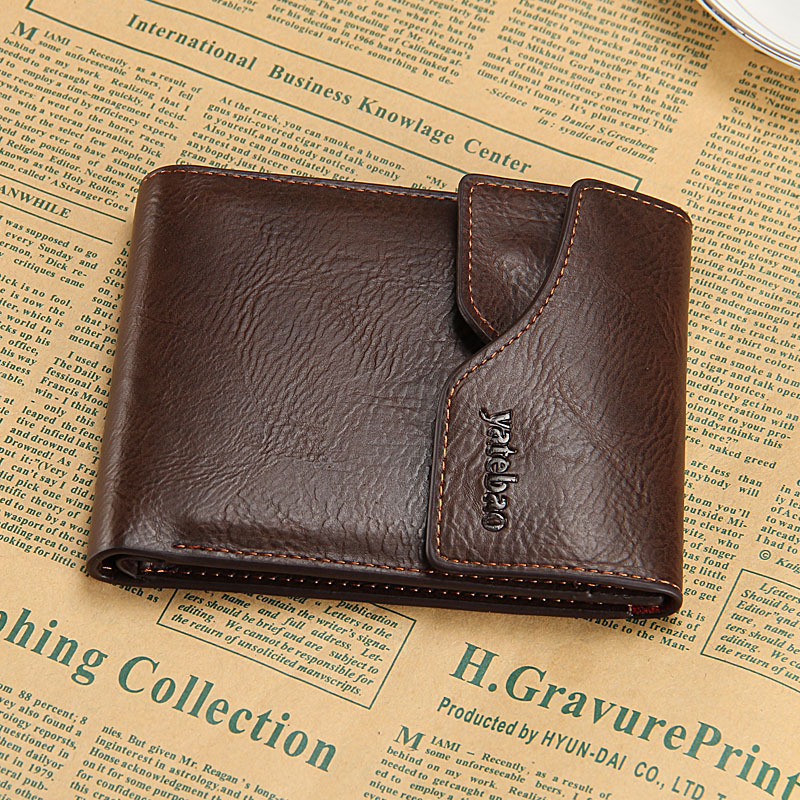 New Arrival Men's Cowhide Wallets Brand Bifold Money Purse Metal Zipper Short And Long Male Removable Card Holder Free Shipping(China (Mainland))
